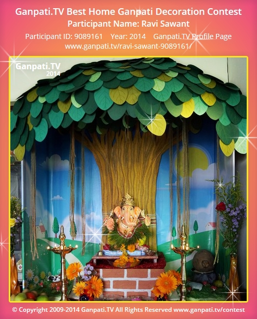 Ravi sawant ganpati tv Ganpati decoration design for home