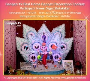 Sagar Mutakekar Ganpati Decoration