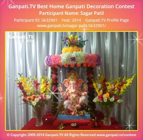 Sagar patil ganpati tv for Artificial flower decoration for ganpati