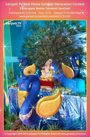 Sandesh Sancheti Ganpati Decoration