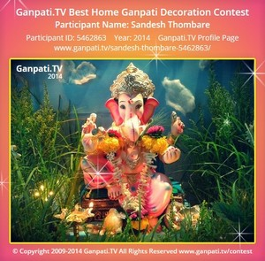Sandesh Thombare Ganpati Decoration