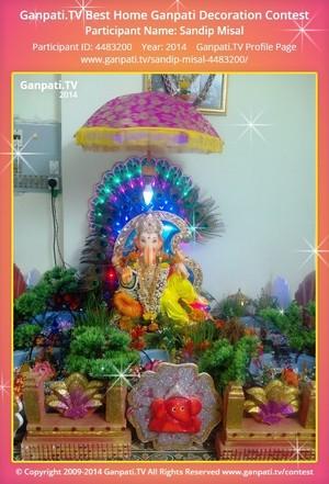Sandip Misal Ganpati Decoration