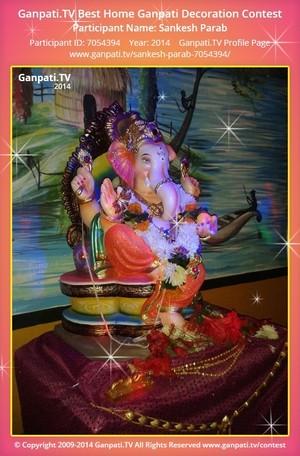 Sankesh Parab Home Ganpati Picture