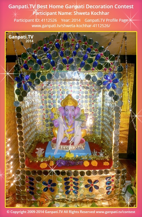 Shweta kochhar ganpati tv Ganpati decoration design for home