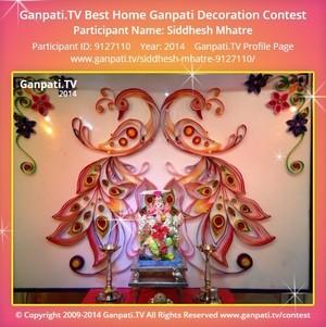 Siddhesh Mhatre Ganpati Decoration