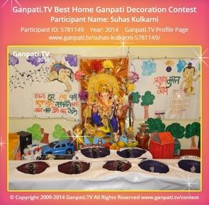 Suhas Kulkarni Home Ganpati Picture