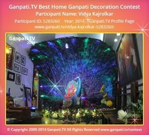 Vidya Kajrolkar Ganpati Decoration
