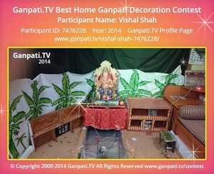 Vishal Shah Ganpati Decoration