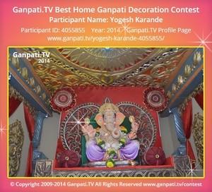 Yogesh Karande Ganpati Decoration