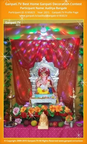 Aaditya Bangale Ganpati Decoration