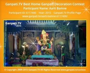 Aarti Bamne Ganpati Decoration