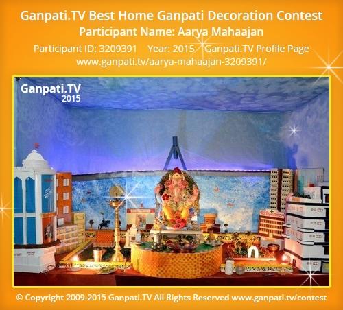 Aarya Mahaajan Ganpati Tv