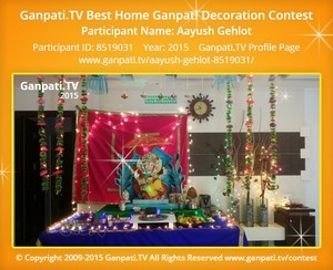Aayush Gehlot Ganpati Decoration