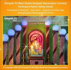 Abhay Gotad Ganpati Decoration