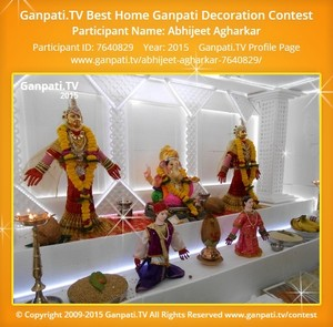 Abhijeet Agharkar Ganpati Decoration