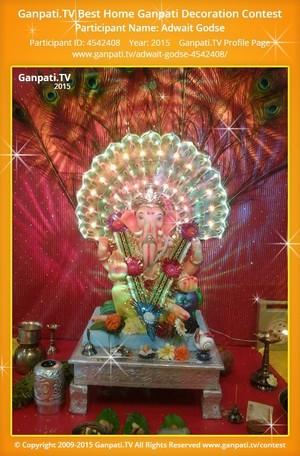 Adwait Godse Ganpati Decoration