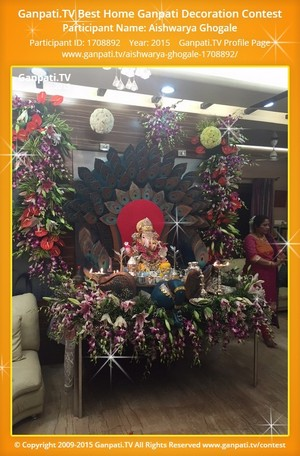 Aishwarya Ghogale Ganpati Decoration
