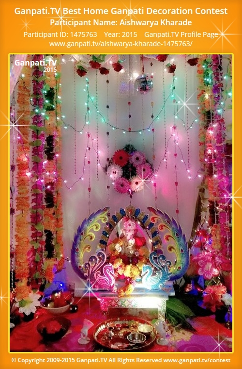 Aishwarya kharade ganpati tv for Artificial flower decoration for ganpati
