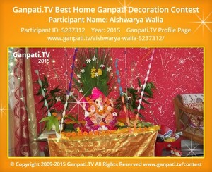 Aishwarya Walia Ganpati Decoration