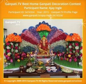 Ajay Ingle Ganpati Decoration