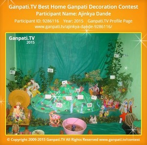 Ajinkya Dande Ganpati Decoration