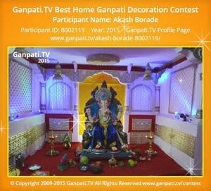 Akash Borade Ganpati Decoration