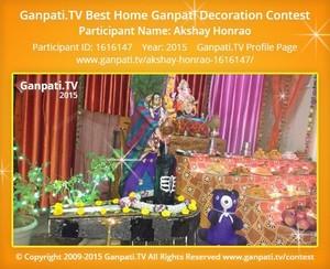 Akshay Honrao Ganpati Decoration