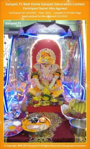 alka agarwal Ganpati Decoration