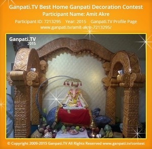 Amit Akre Ganpati Decoration