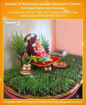Amit Asamwar Ganpati Decoration