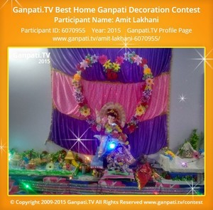 Amit Lakhani Ganpati Decoration