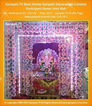 Amit Mali Ganpati Decoration