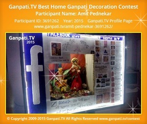 Amit Pednekar Ganpati Decoration