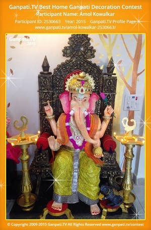 Amol Kowalkar Ganpati Decoration