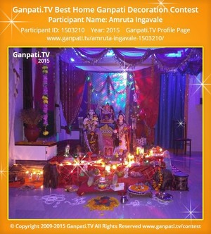 Amruta Ingavale Ganpati Decoration