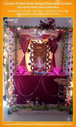 Amruta Mundkar Ganpati Decoration