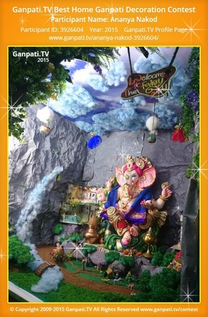ananya nakod Ganpati Decoration
