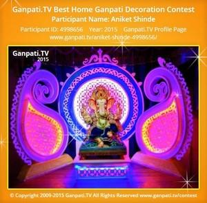Aniket Shinde Ganpati Decoration