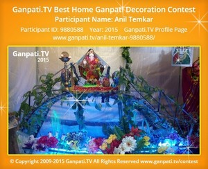Anil Temkar Ganpati Decoration