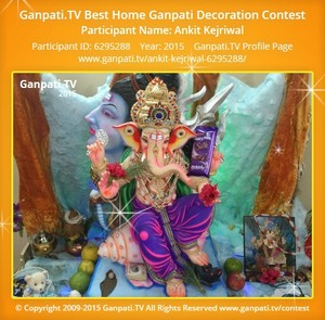Ankit Kejriwal Ganpati Decoration
