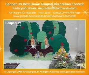Anuradha Bhakthavatsalam Ganpati Decoration
