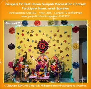 Arati Nagvekar Ganpati Decoration