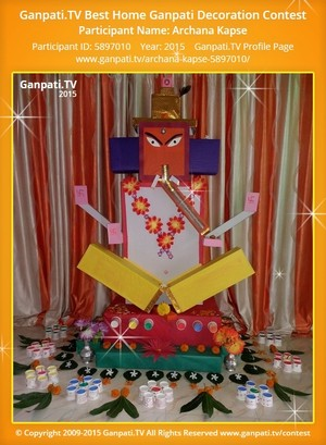 Archana kapse Ganpati Decoration