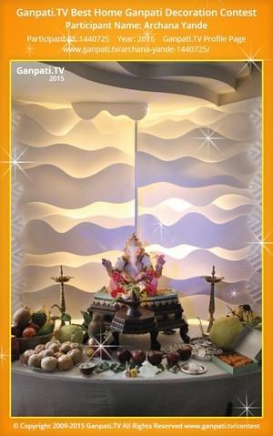 Archana Yande Ganpati Decoration