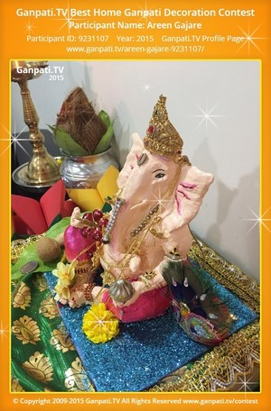 Areen Gajare Ganpati Decoration