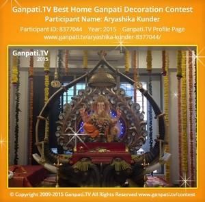 Aryashika Kunder Ganpati Decoration