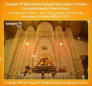 Ashwin Kharva Ganpati Decoration