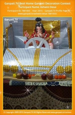 Ashwini Desai Ganpati Decoration