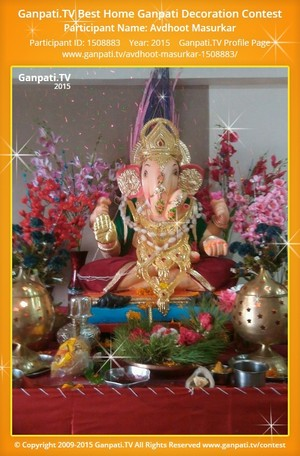 Avdhoot Masurkar Ganpati Decoration
