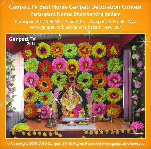 Bhalchandra kadam ganpati tv Ganpati decoration design for home